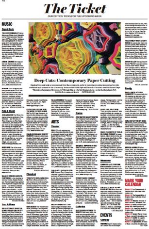 Sunday Boston Globe | Deep Cuts: Contemporary Paper Cutting