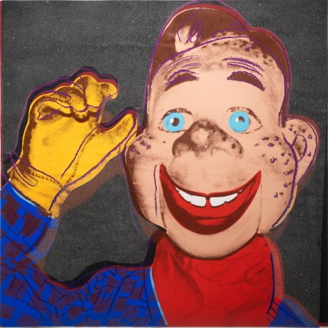 Andy Warhole, Howdie Doody, 1981, Screen print on Lenox Museum Board with Diamond Dust