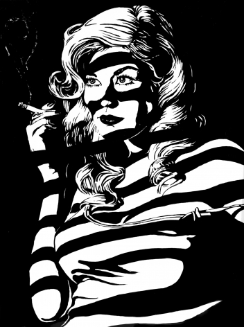 Smoking Lady Tom Duffy