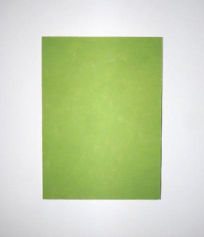 RICHARD ALDRICH Untitled Green on Grey, 2006
