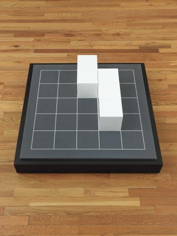Sol LeWitt Model for Five Cubes on Twenty-five Squares, 1977