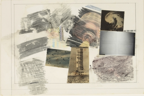 Robert Rauschenberg  Drawing for Stoned Moon Book, 1970