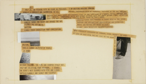 Robert Rauschenberg Stoned Moon Book, Page 9, 1970