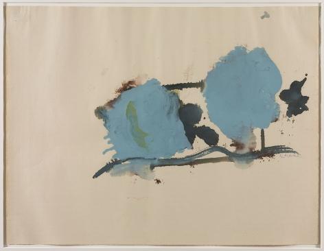 Helen Frankenthaler,Blue on One Side, 1962.