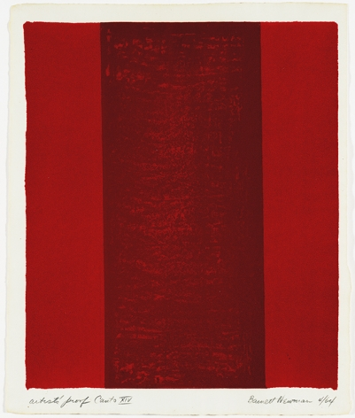 Barnett Newman Canto XIV, from 18 Cantos, 1964