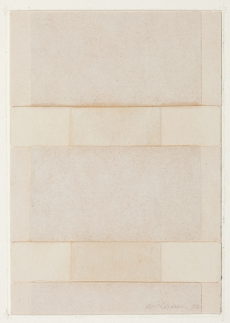 Dorothea Rockburne,Silence V, 1972.
