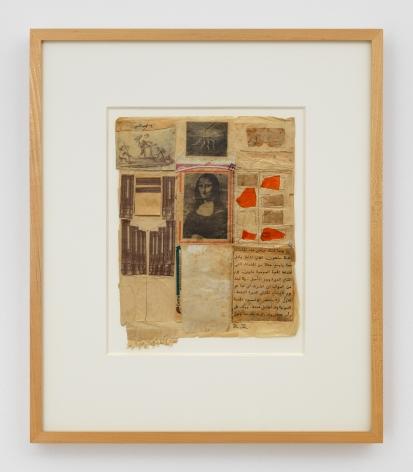 Robert Rauschenberg Untitled [Mona Lisa], c. 1952