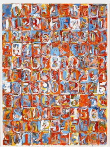 Jasper Johns Small Numbers in Color, 1959