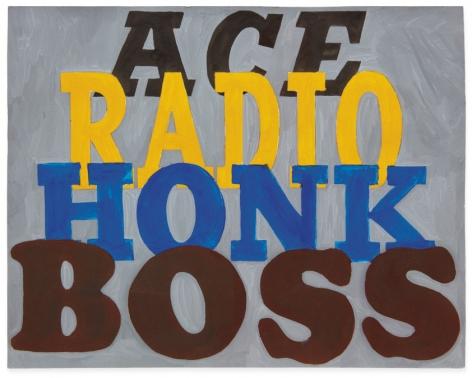 Ed Ruscha Ace Radio Honk Boss [#2], 1961