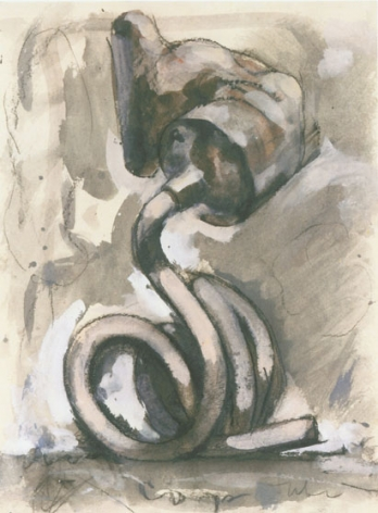 Claes Oldenburg, Study for a Sculpture in the Form of a Tube Supported by its Contents, 1972.