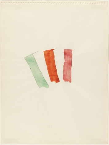 Richard Tuttle, What Color, How to Make, 1967.