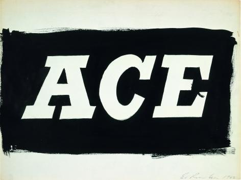 Ed Ruscha Ace [#3], 1962