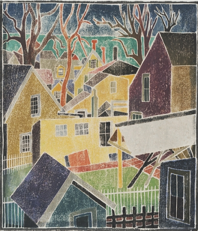 Blanche Lazzell Provincetown Backyards, 1926