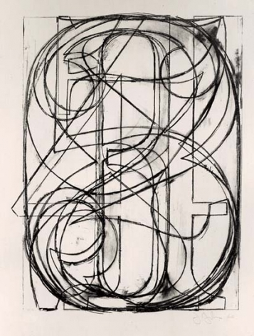 Jasper Johns, 0 through 9, 1960.