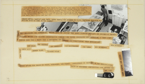 Robert Rauschenberg Stoned Moon Book, Page 8, 1970