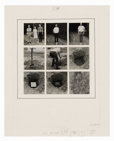 Sol LeWitt Buried Cube Containing an Object of Importance But Little Value, 1968