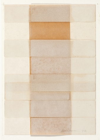 Dorothea Rockburne,Silence I, 1972.