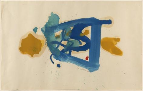 Helen Frankenthaler,Blue Square Plus Two, 1961.