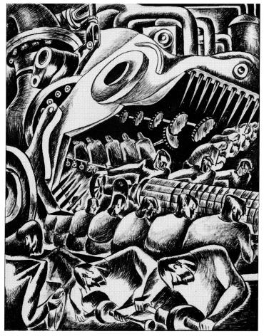 Leon Bibel,Machine Cog, c. 1936.