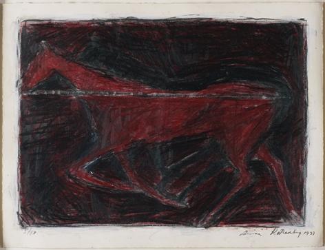 Susan Rothenberg,Untitled, 1977.