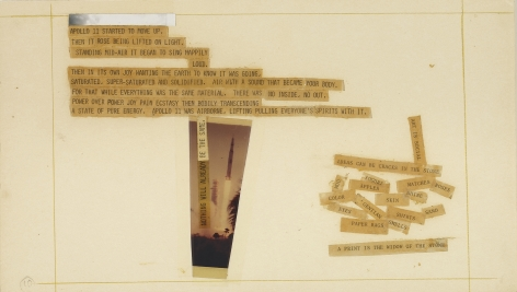 Robert Rauschenberg Stoned Moon Book, Page 10, 1970