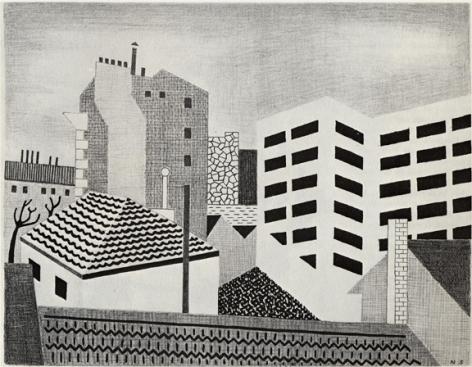 Niles Spencer,White Factory, 1928.