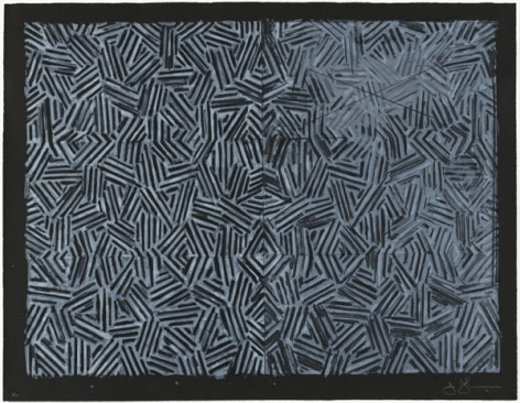 Jasper Johns, Corpse and Mirror, 1976.