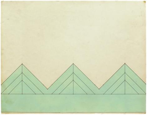 Mel Bochner,Triangulations (3/3/3), 1966.