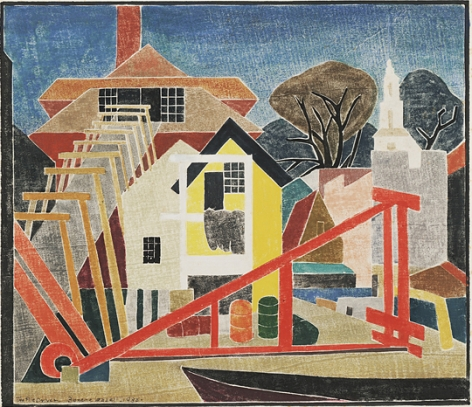 Blanche Lazzell The Pile Driver, 1933