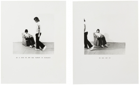 William Wegman, As a Joke ..., 1971.