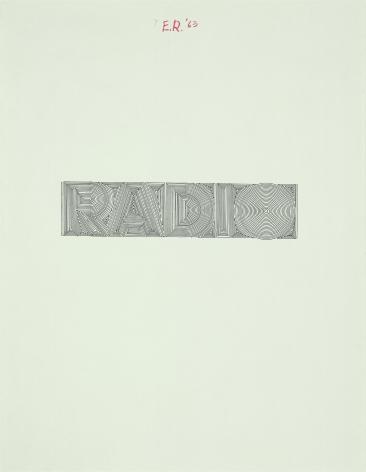 Ed Ruscha Radio [#3], 1963