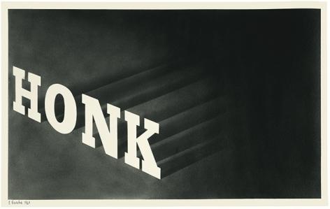 Ed Ruscha Honk [#2], 1964
