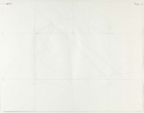 Dorothea Rockburne,Drawing Which Makes Itself F.P.11, 1972.