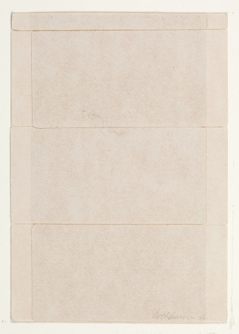 Dorothea Rockburne,Silence III, 1972.