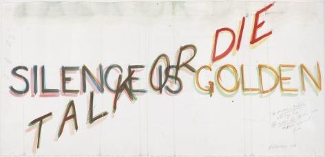 Bruce Nauman,Silence is Golden/Talk or Die, 1983.