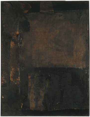 Robert Rauschenberg, Untitled [small vertical black painting], c. 1951.