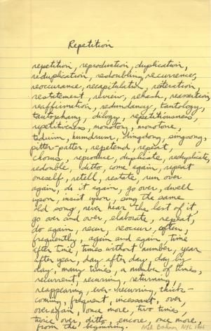 Mel Bochner,Study for Portrait of Robert Smithson,1966.