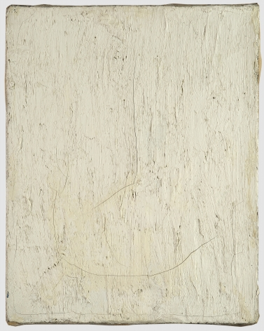 Robert Rauschenberg, Untitled [small white lead painting], c. 1953.