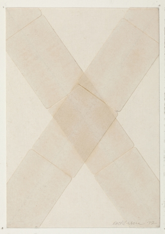 Dorothea Rockburne,Silence IV, 1972.