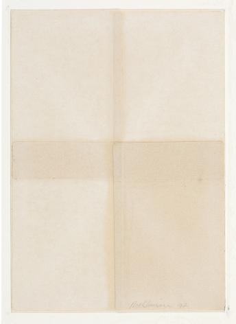 Dorothea Rockburne,Silence II, 1972.