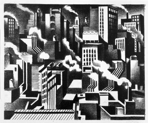 Jan Matulka, Arrangement - New York, c. 1925.