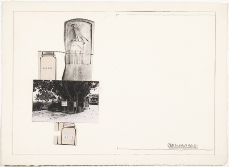 Robert Rauschenberg Sand/Soil (Collage for Ileana Sonnabend), n.d.