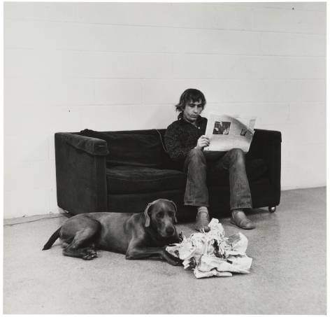 William Wegman, How They are Toward Newspapers, 1973.