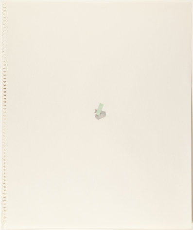 Richard Tuttle, Collage Drawings VIII, #18-23, 1977.