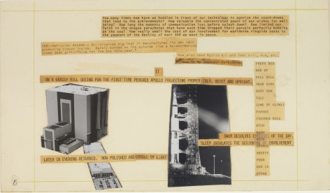 Robert Rauschenberg Stoned Moon Book, Page 6, 1970