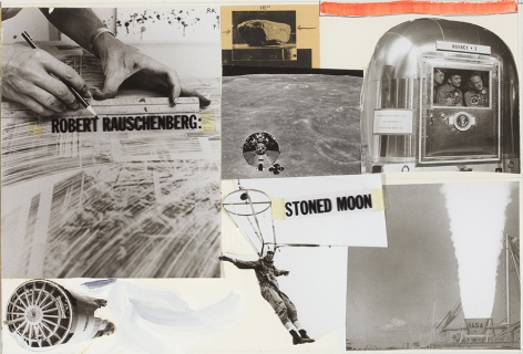 Robert Rauschenberg Cover Page, Stoned Moon Book, 1970
