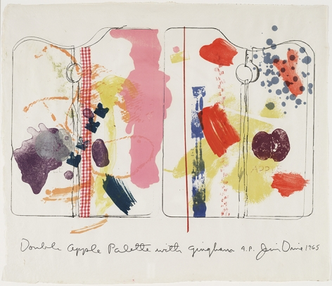 Jim Dine Double Apple Palette with Gingham, 1965