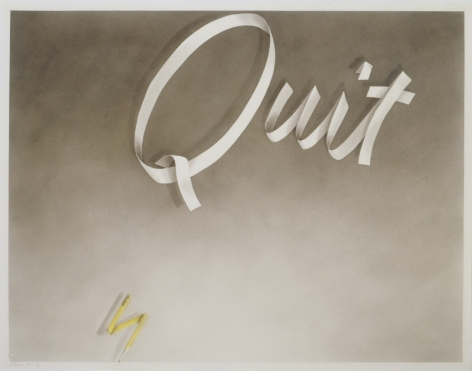 Ed Ruscha Quit, 1967