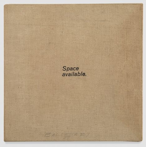 John Baldessari Space Available, 1966-67