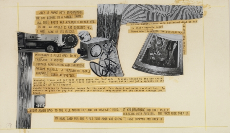 Robert Rauschenberg Stoned Moon Book, Page 7, 1970